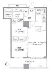 プレサンスレジェンド堺筋本町タワー[10階]の間取り