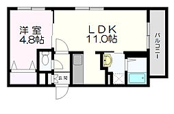 北海道札幌市白石区本郷通7丁目の賃貸マンションの間取り
