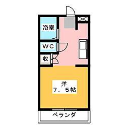 サンライズ御門台[3階]の間取り