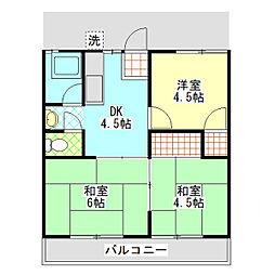 石川ハイツA[2階]の間取り