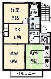 コスモガーデンA・B・C・D[A-101 号室号室]の間取り