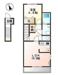 (仮)上之町賃貸アパート新築工事[2階]の間取り
