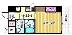 Osaka Metro御堂筋線 中津駅 徒歩6分の賃貸マンション 5階1Kの間取り