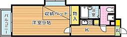 第13エルザビル[11階]の間取り