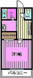 埼玉県さいたま市南区松本4丁目の賃貸アパートの間取り