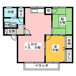 セジュールシモノ A棟[1階]の間取り