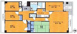 セソール川崎京町ハイライズ フォースピア[1305(室内リフォーム実施済)号室]の間取り