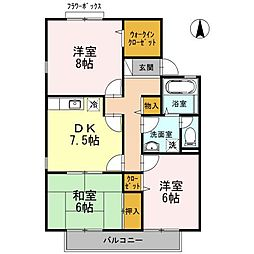 池田ファミリーゼーション A棟[202号室]の間取り