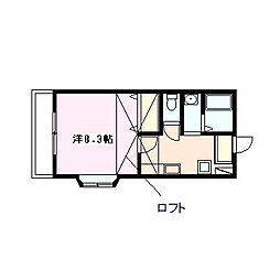 メゾン・クレメンテリア[201号室号室]の間取り