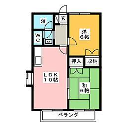 アゼリア文京[2階]の間取り