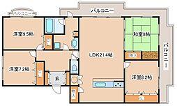 阪急神戸本線 六甲駅 バス6分 神戸国際学部前下車 徒歩5分の賃貸マンション 1階4LDKの間取り