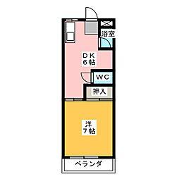 サンライズII[4階]の間取り