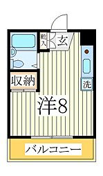 ランドフォレスト天王台II[1階]の間取り