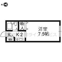 吾道庵I[201号室]の間取り