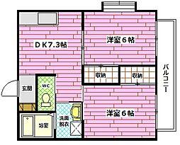 第3宮本ビル[1階]の間取り