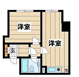 東京都荒川区南千住2丁目の賃貸マンションの間取り
