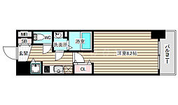 LEGESTA大阪レジデンス 2階1Kの間取り