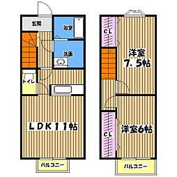 [テラスハウス] 東京都日野市西平山5丁目 の賃貸【/】の間取り