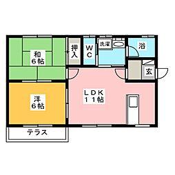 [一戸建] 群馬県前橋市元総社町 の賃貸【/】の間取り