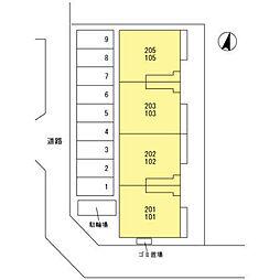 ボンヌール[103号室]の外観