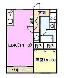クラフトハウスI[2階]の間取り