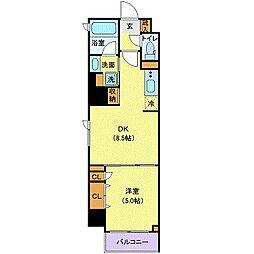 東京メトロ半蔵門線 半蔵門駅 徒歩3分の賃貸マンション 2階1DKの間取り