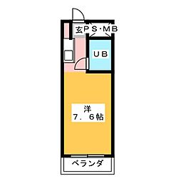 ラ・トゥ−ル呼続[5階]の間取り