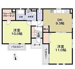 西武池袋線 椎名町駅 徒歩6分の賃貸アパート 1階2LDKの間取り