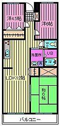信栄マンション[2階]の間取り