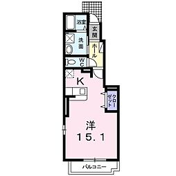 愛知県名古屋市南区白雲町の賃貸アパートの間取り