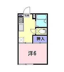 静岡県沼津市平町の賃貸アパートの間取り
