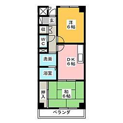 八幡山マンション[3階]の間取り