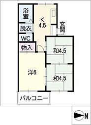 コーポ辻[2階]の間取り