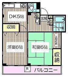 コーポNAO[2階]の間取り