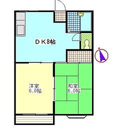 メゾン・ド・アンシャンテB[2階]の間取り