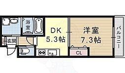 AC.COURT 2階1DKの間取り
