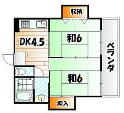 シャトレ片野[5階]の間取り
