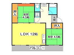 所沢山口団地 3号棟[2階]の間取り