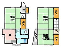 JR総武線 小岩駅 徒歩22分の賃貸一戸建て 1階3Kの間取り