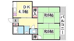大谷荘[7号室]の間取り
