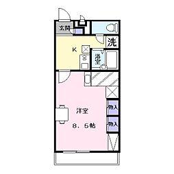 レオパレスYAMADA 3[1階]の間取り