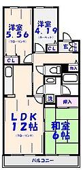 シャルマンカルチェ[3階]の間取り