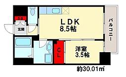 福岡県福岡市南区大橋2丁目の賃貸マンションの間取り