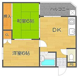 ローレルハイツ岡本[6階]の間取り