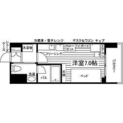 (仮称)UniLife仙台河原町駅学生会館[朝食付き] 4階ワンルームの間取り