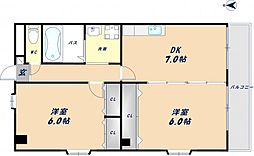 エスポワール吉川[3階]の間取り