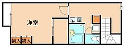 レオパレスまほろば[2階]の間取り