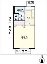 コンフォルト桃山 N棟[2階]の間取り