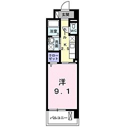 brote湘南[1階]の間取り