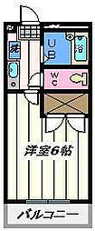 東京都葛飾区西水元6の賃貸マンションの間取り